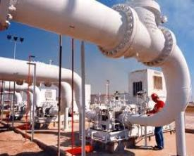 Lapangan gas Melibur di Siak, Riau.