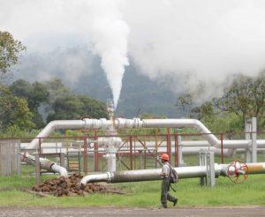 Salah satu wilayah operasi panas bumi di Indonesia.