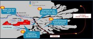 Peta lokasi penambangan batubara PT Toba Bara Sejahtra Tbk (TOBA).