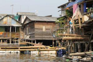 Perkampungan nelayan.