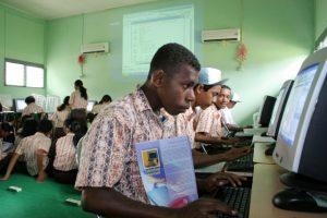 Kegiatan CSR bidang pendidikan Pertamina EP di Papua.