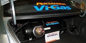 Kendaraan yang sudah dilengkapi konverter kit untuk menggunakan LGV.