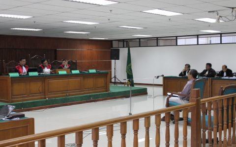 Persidangan kasus bioremediasi dengan terdakwa Bachtiar Abdul Fatah.