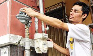 Penggunaan gas bumi untuk rumahtangga di Batam.