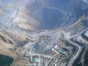 Tambang emas dan tembaga PT Freeport Indonesia di Papua.