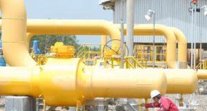 Fasilitas distribusi gas PT PGN (Persero) Tbk.