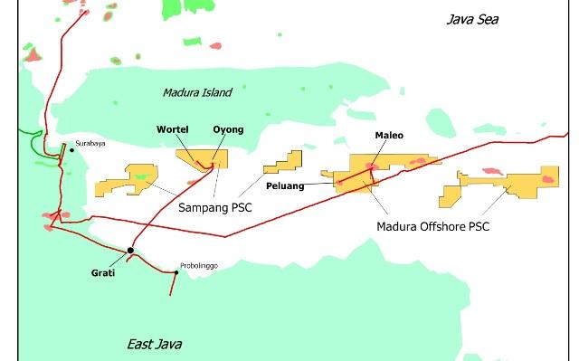 Lapangan Gas Peluang di Blok Madura Offshore Mulai Berproduksi