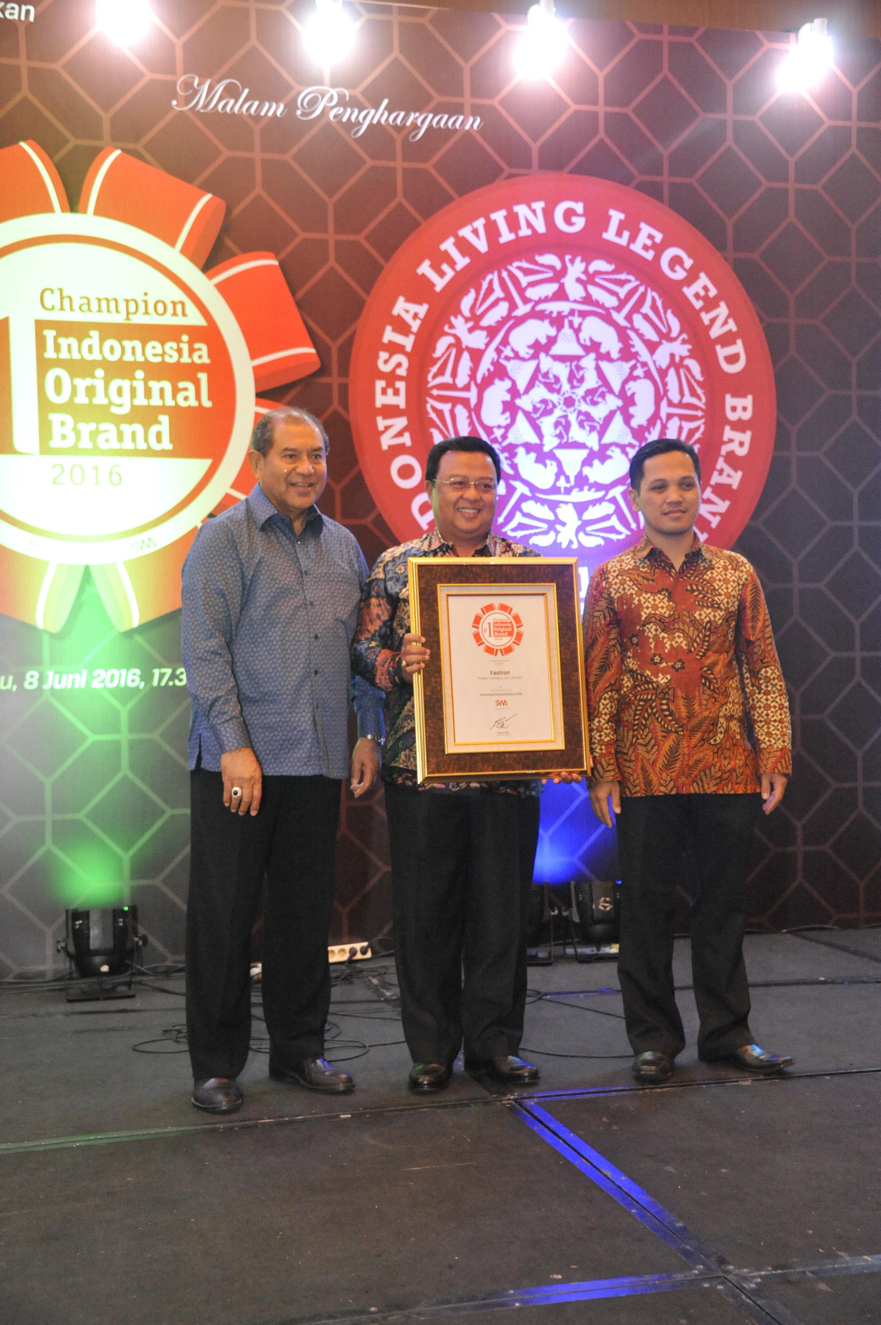 Fastron Raih Penghargaan Indonesia Original Brands 2016