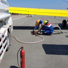 Pertamina Kerahkan Pesawat Khusus Angkut  4.000 Liter Solar ke Palu
