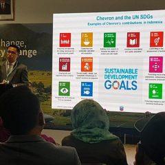 Chevron Kontribusi 14 dari 17 Tujuan Pembangunan Berkelanjutan PBB