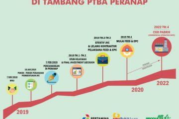 Pabrik DME Bukit Asam-Pertamina-Air Products Beroperasi Kuartal IV 2020