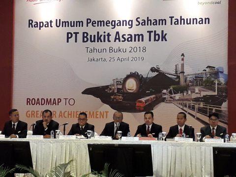 Bukit Asam Bagi Dividen 75% dari Laba Bersih 2018