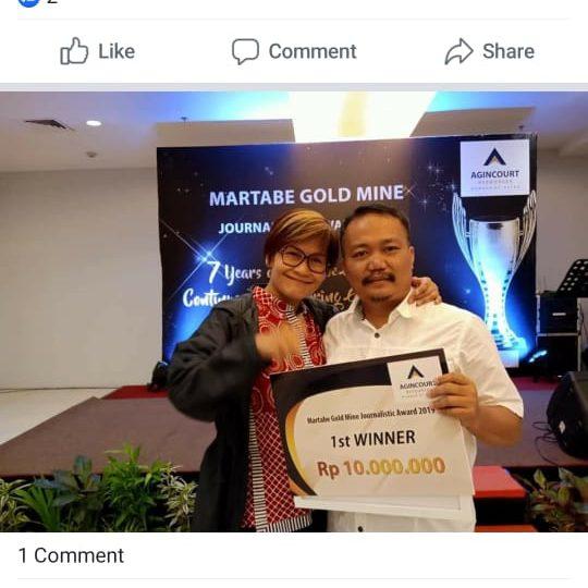 Dunia Energi Raih Juara Pertama Penghargaan Jurnalistik Tambang Emas Martabe 2019