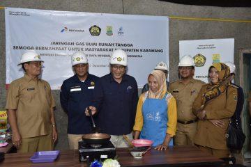 PGN Rampungkan Pembangunan 6.952 Sambungan Gas Rumah Tangga di Karawang