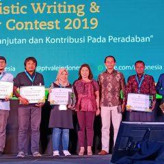 Wartawan Dunia Energi Raih Juara Pertama Kontes Jurnalistik Vale