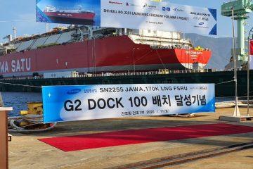 Konstruksi Capai 62,5%, Pertamina Lepas Perdana Kapal FSRU Jawa-1