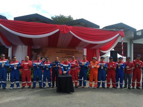 12 Unit Operasi dan Anak Usaha Pertamina Bersaing Dalam Fire Fighting and Rescue Challenge 2020