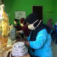 Cegah Wabah Corona, Kelompok Binaan Pertagas Produksi Masker