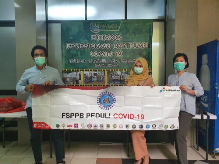 Peduli Pandemi Corona, Federasi Serikat Pekerja Pertamina Salurkan APD ke Tim Medis RSUD Bekasi