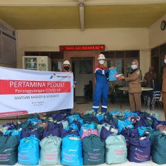 Tekan Penularan Covid-19, Pertagas Distribusikan 2.000 Masker dan 785 Paket Bantuan