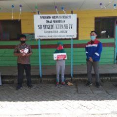 Pertagas East Java Area Bantu Kebutuhan SD Daring di Sidoarjo