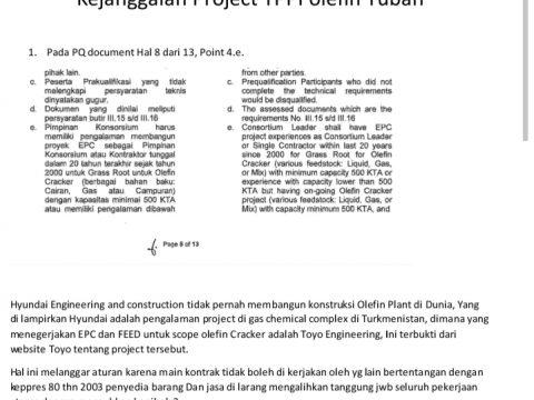Pembangunan Kilang TPPI Olefin Tuban Disinyalir Melanggar Aturan