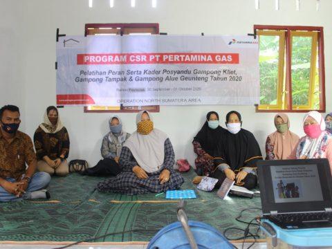 Atasi Peningkatan Stunting, Pertagas Latih Kader Posyandu di Aceh Timur