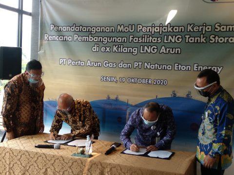 Gandeng Natuna Eton, Perta Arun akan Bangun Dua Tangki LNG di Bekas Fasilitas LNG Arun
